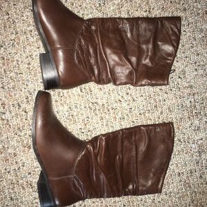 New St Johns Bay Leather slouchy Boots 5